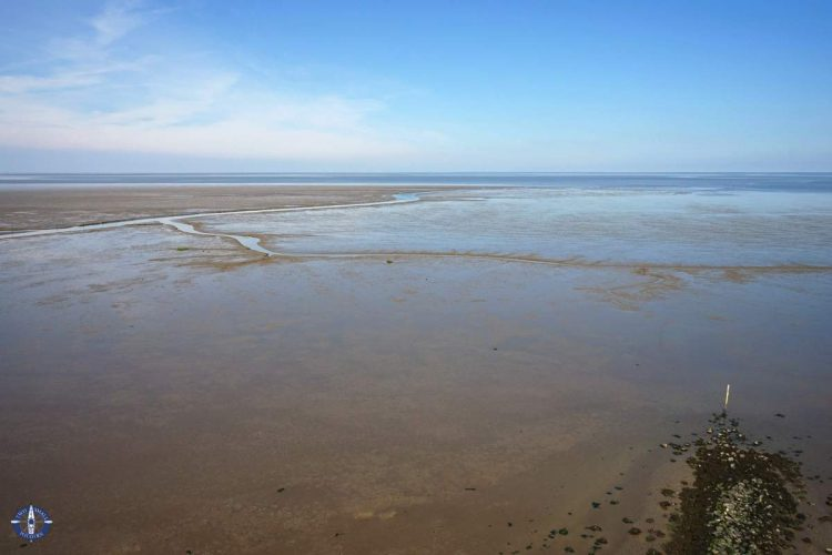 Mudflats on the Lower Saxony Wadden Sea National Park, Germany