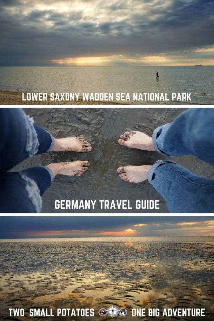 Pinterest pin, Lower Saxony Wadden Sea National Park in Germany by Two Small Potatoes Travel