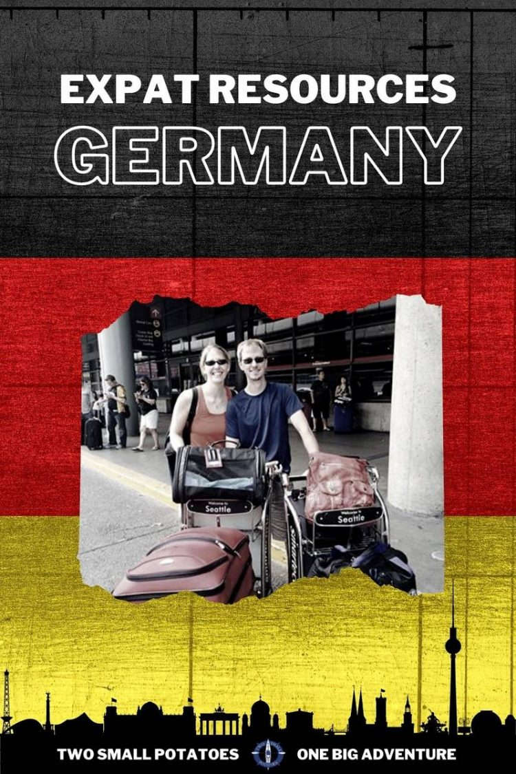 PIN for expat resources in Germany, Two Small Potatoes travel and expat blog