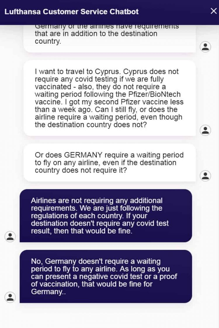 Chat with Lufthansa airline staff after TUIfly airline denied boarding in Germany