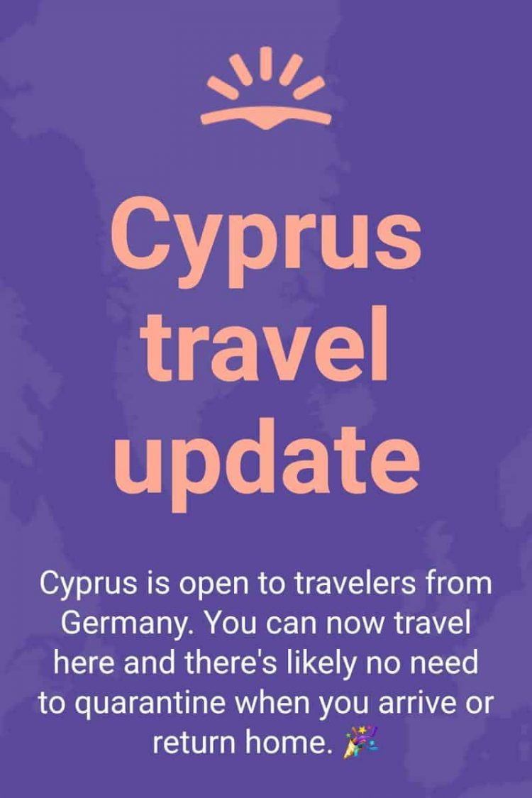Skyscanner ad for Cyprus travel from Germany