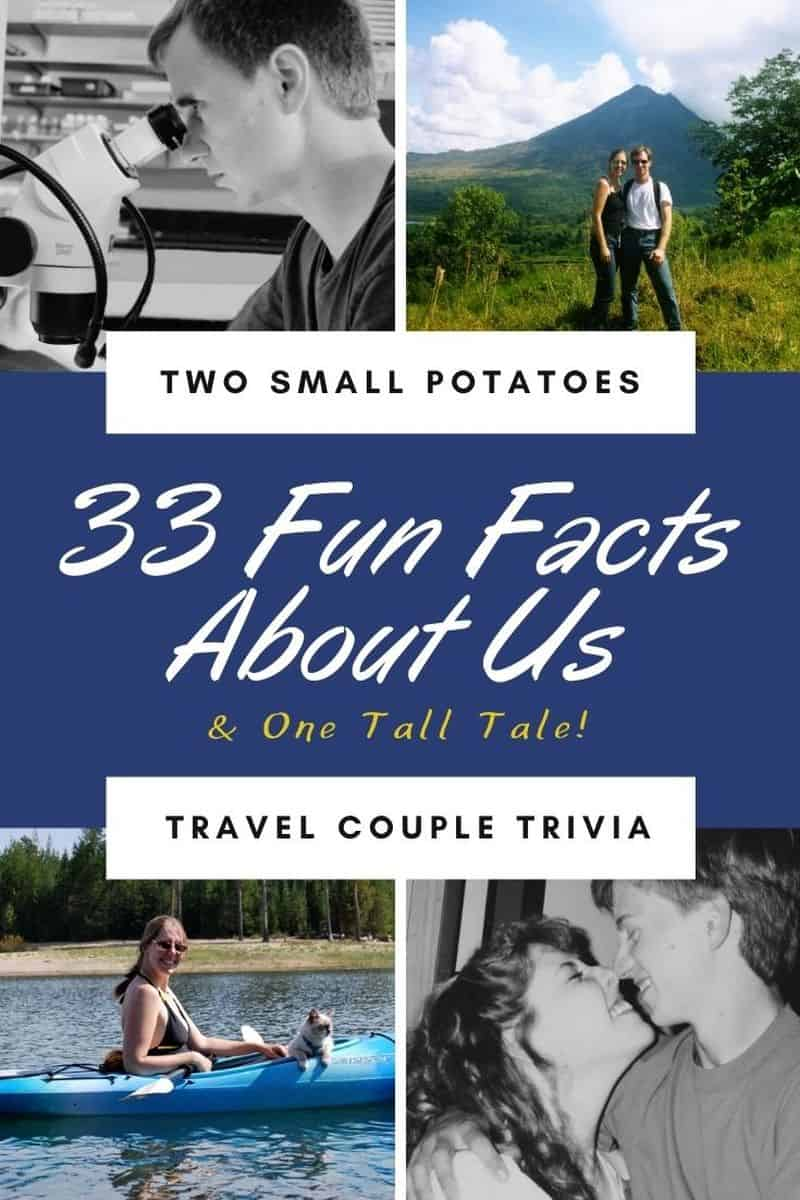 PIN, Fun Facts About Me by Two Small Potatoes Travel
